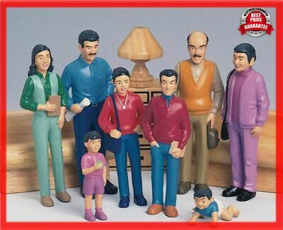 Education Pretend Play Hispanic Family Toy Figures Happy Doll Familly Dollhouses