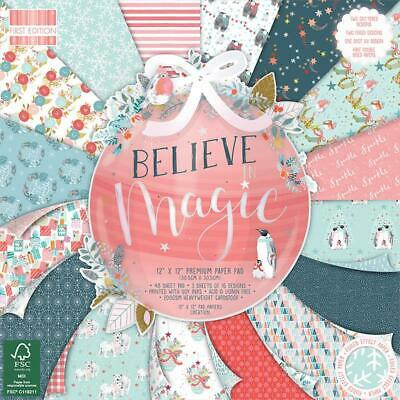 First Edition Papierblock 30,5 x 30,5cm (48 Blatt) 200g - Believe in Magic