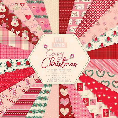 Paper Addicts Papierblock 30,5 x 30,5cm (24 Blatt) 200g - Cosy Christmas
