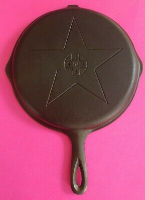 Vintage Antique Lodge 4 In 1 Star, Cast Iron Skillet Hinged Lid Cover,