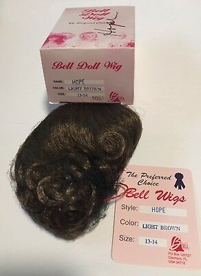 Bell Ceramics Doll Wig Style Size 8-9 New in Box Dark Brown MARK Boy Color