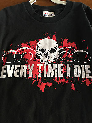 EVERY TIME I DIE EAGLE Logo T-shirt Hardcore Punk Metalcore Tee Adult LARGE New