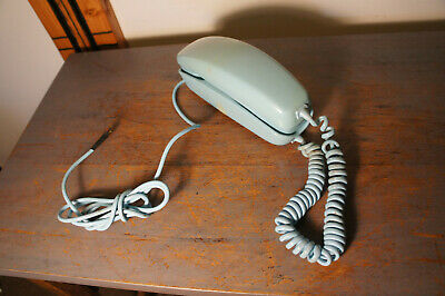Western Electric Bell System Trimline Rotary Dial Desk Telephone Teal Blue