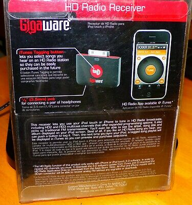 Gigaware tag HD Radio Receiver Gigaware Tag For iPhone or iPod NOS
