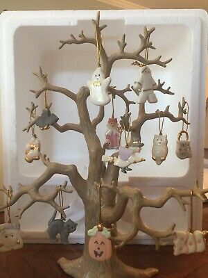 Lenox Halloween Tree with 12 Ornaments in Original Box and packing