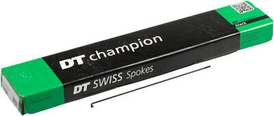 100x DT Swiss Competition Double Butted 2.0x1.8mm J-Bend Black Spoke 230~270mm