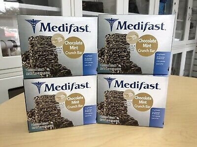 Optavia Medifast Chocolate Mint Crunch bars 28 / 4 boxes FRESH