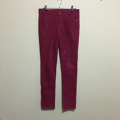 Miss Understood Corduroy Straight Leg Pants Pink Youth Girls Size 14 Waist 66cm