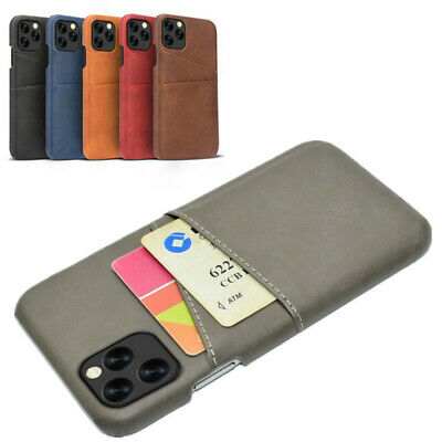 For iPhone 11 Pro Max XS XR X 7 8 Plus 6s Leather Card Wallet Hard PC Case Cover