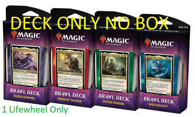 Throne of Eldraine Brawl Deck Set of 4 OPEN BOX 1 LIFEWHEEL MAGIC MTG IN HAND