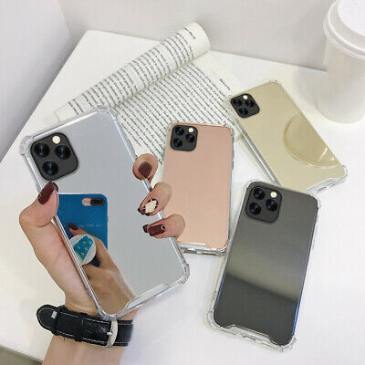 Mirror Shockproof Armor Bumper Hard Case Cover For iPhone 11 Pro Max XS XR 8 7 6
