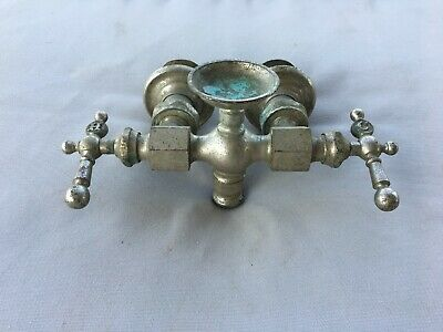 Antique Nickel Brass Claw Foot Bathtub Faucet Old Vtg Haydenville Co. 235-19J