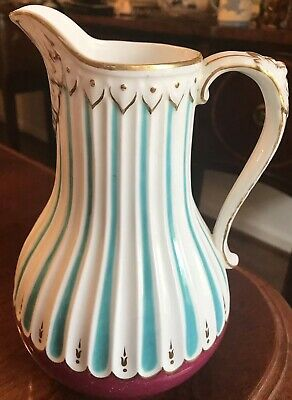 Antique Livesley Powell & Co. Relief Molded Jug