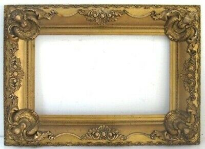 ANTIQUE MUSEUM QUALITY LOUIS XV STYLE GOLD LEAF FRAME FOR PAINTING 20 X12 inch