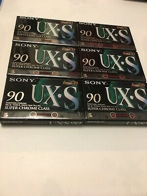 6x SONY UX-S 90 Cassette Tapes + OVP + SEALED + ( Guide Block )