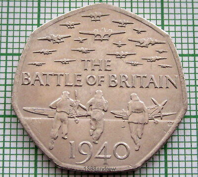 Great Britain 2015 50 Pence Battle Of Britain, Unc