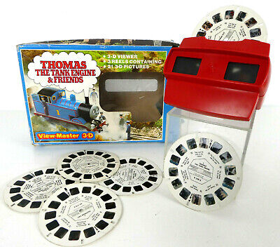 Vintage Viewmaster 3D with Thomas & Postman Pat Reels 1980s Toy Game Retro