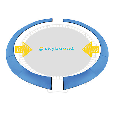 "SkyBound 15 Foot Blue Two-Piece Install Trampoline Pad Easy - Up to 5.5"" springs"