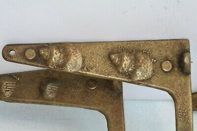 "Art Nouveau Brass Wall Bracket Hanging Mobile Flower Pots, Lights  6 1/4"" Arm"