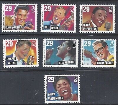 Scott 2724-2730 American Music Issue Single Set of 7 Stamps MNH