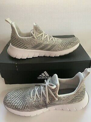 Adidas Asweego Cloudfoam Running Shoes F37040 Gray Men's US Size 10.5
