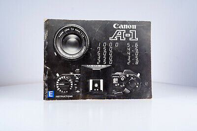 CANON A1 CAMERA Users Instruction Manual from 1980's