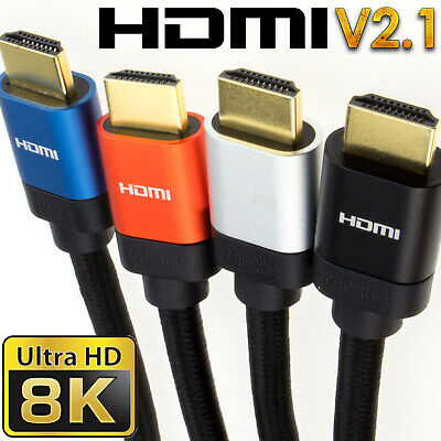 HDMI v2.1 Ultra High Speed HDR 8K/4K 48Gbps Performance Cables SkyQ/XBOX/PS4