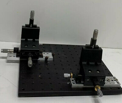 Newport 3 Axis Linear Stages M-460A W Breadboar & Del-tron Stage