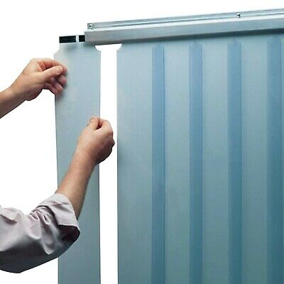 CRH Thermal Flex PVC Strip Door Curtain for Walk-In Freezer, Coolroom&Warehouse