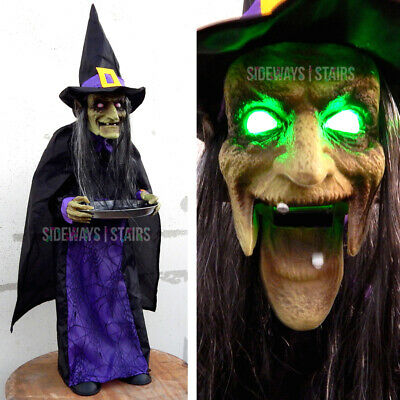 "45"" ANIMATED WITCH CANDY HOLDER Halloween decoration creepy horror wicked RARE"