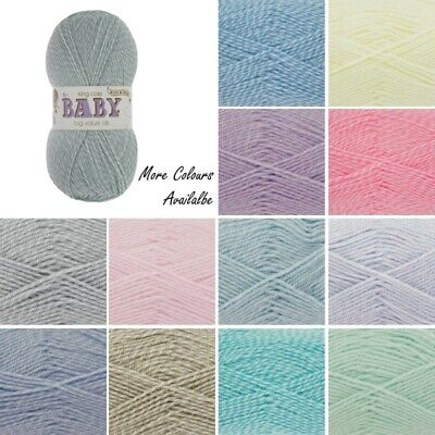 King Cole Big Value Baby DK Yarn Double Knit with a Twist Weight 50g Wool