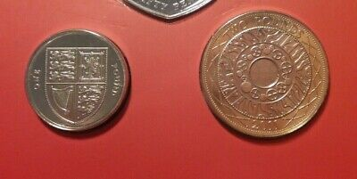 2011 Royal Shield of Arms £1 & £2 (2 coins) Brilliant Uncirculated BU from set