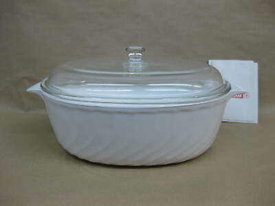 Arcoflam Casserole Dish / Oven / Microwave ~ 3.5 L ~ White ~ Unused With Box