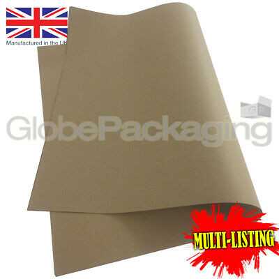 "STRONG KRAFT PAPER GIFT WRAPPING SHEETS 500x750mm (20x30"") 100% RECYCLABLE 88GSM"