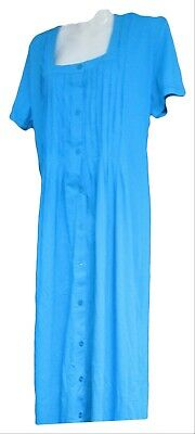 Vermont Country Store Womens Blue short Sleeve Dress  Size L