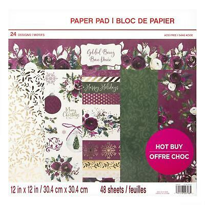 Craft Smith Design-Papierblock 30,4 x 30,4cm (48 Blatt) - Gilded Berry