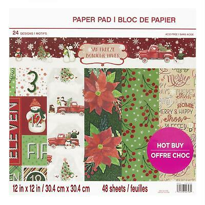 Craft Smith Design-Papierblock 30,4 x 30,4cm (48 Blatt) - Say Freeze