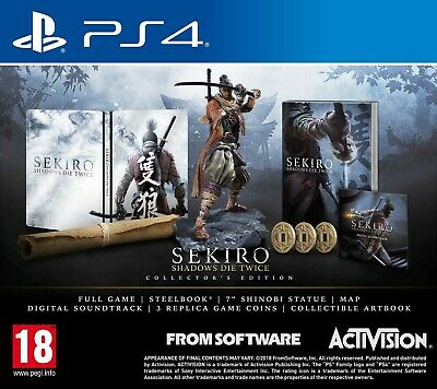 Sekiro - Shadow Die Twice Collector's Edition Ps4 Italiano Play Station 4 Nuovo