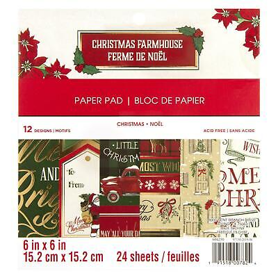 Craft Smith Design-Papierblock 15,2 x 15,2cm (24 Blatt) - Christmas Farmhouse