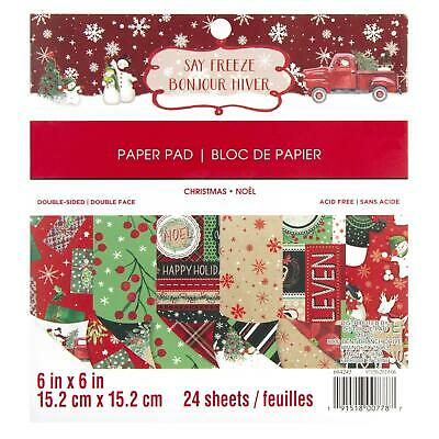Craft Smith Design-Papierblock 15,2 x 15,2cm (24 Blatt) - Say Freeze