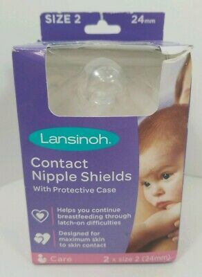 Lansinoh Contact Nipple Shields 2 Count 24mm carry case breastfeeding