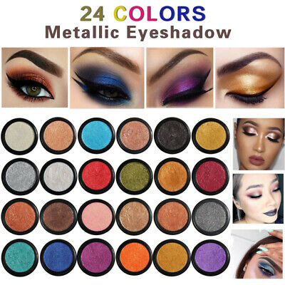 PHOERA Glitter Metal Eyeshadow Makeup Eye Shadow Natural Eyeshadow Palette