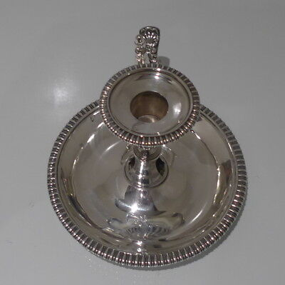Early 19th Century George III Antique Sterling Silver Chamberstick London 1813