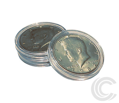 Half Dollars Coin Holder Airtight 30.6mm Direct Fit Capsules (100 Pack)