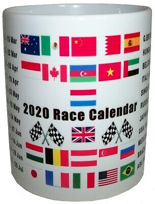 2020 Grand Prix Racing Car Formula One Race Fixtures Dates 2020 Tea Coffee Mug