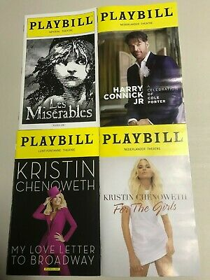 Les Miserables, Harry Connick, Kristen Chenowith 2 Styles, (Any 5 Playbills $25)