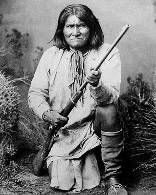 1886 Native American Indian GERONIMO Glossy 8x10 Photo Apache Leader Print