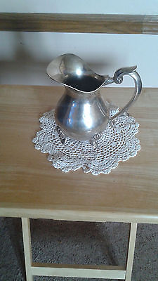 Vintage Electroplated Nickel Silver Footed Pitcher