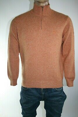 Henry Cotton's Maglione Uomo 1/2 Zip Tg. L Man Sweater Casual Vintage L139