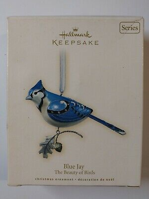 ♛ Hallmark Hallmark '2007 BLUE JAY' birds, Keepsake Ornament (Christmas)